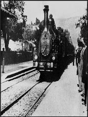 icône arrivée d'un train gare de la ciotat